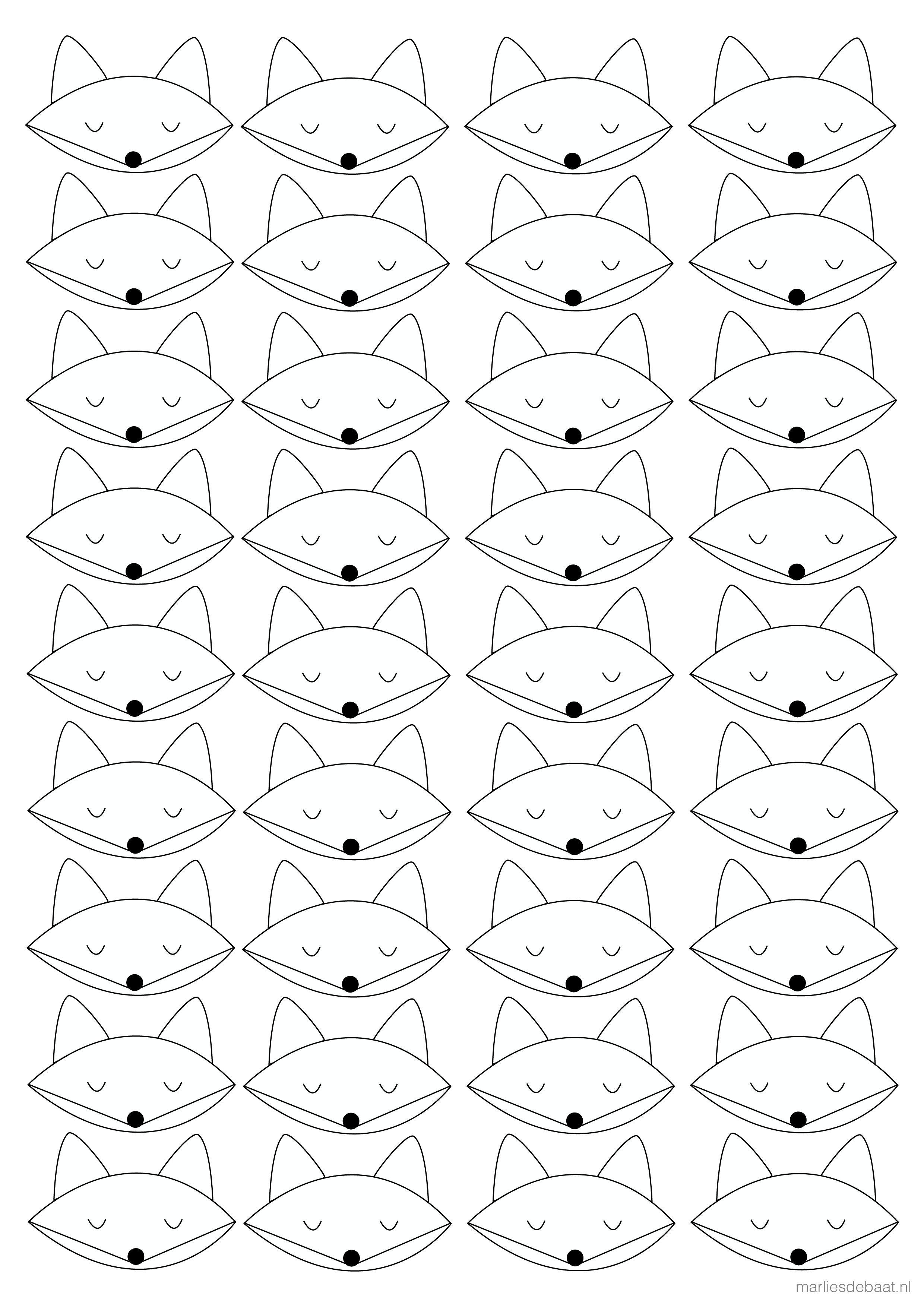 Graphic Design Vos Kleurplaat Poster Tekenopdrachten En