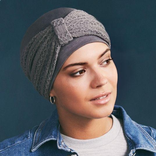 944a342ad61e4 Bonnet chimio TWIN SET coton - Gris | sewing& relooking | Bonnet ...