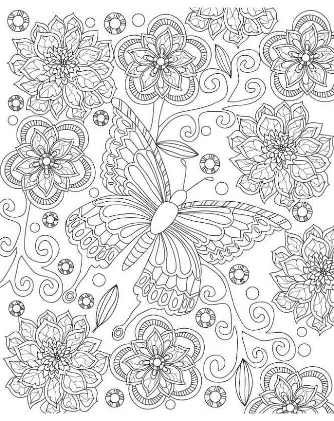 Adult Coloring Book Amazing Art Therapy With 30 Beautiful Butterfly Designs To