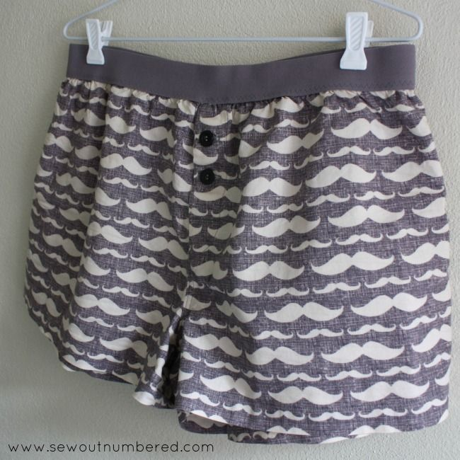 Freebie Sewing Patterns: Men's boxer shorts