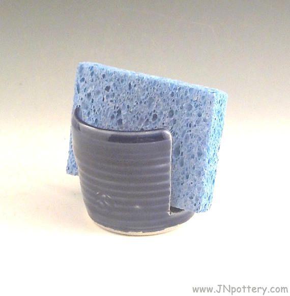Stoneware Sponge Holder Ceramic Sponge Drying Bowl Kitchen Sponge Holder Stoneware Clay Stoneware