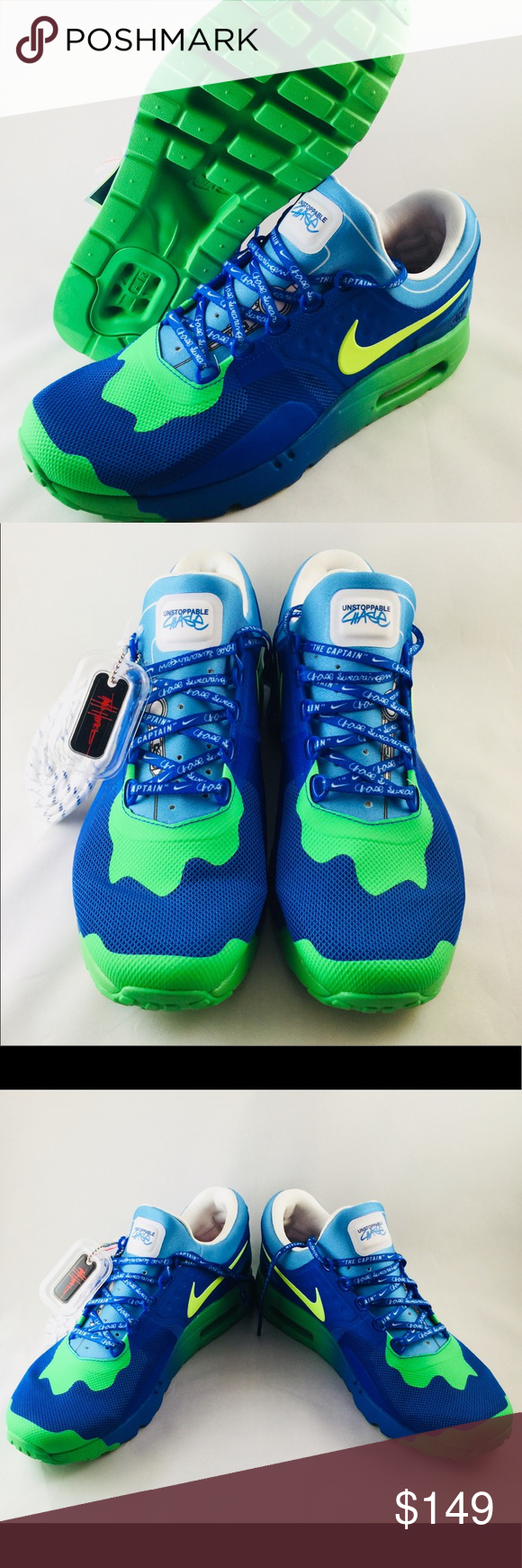 reputable site df1bc eee6f Nike Air Max Zero DB Doernbecher Hyper Mens Sz10.5 Brand new in Box Nike  Air Max Zero DB shoes featuring a hyper cobalt and volt color scheme.