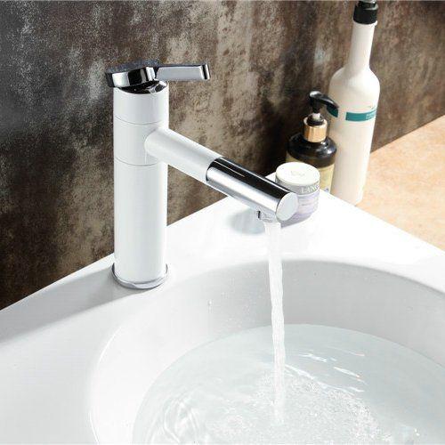 Bathroom Faucets Diy Hiendure Single Handle Brass Bathroom Sink Faucet Vessel Sink Lavatory Mixer Tap White Sink Faucets Basin Mixer Taps Vessel Sink Faucet
