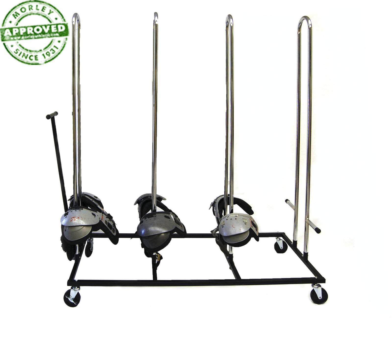 Pro Model Football Shoulder Pad Cart | Football Uniform Racks and
