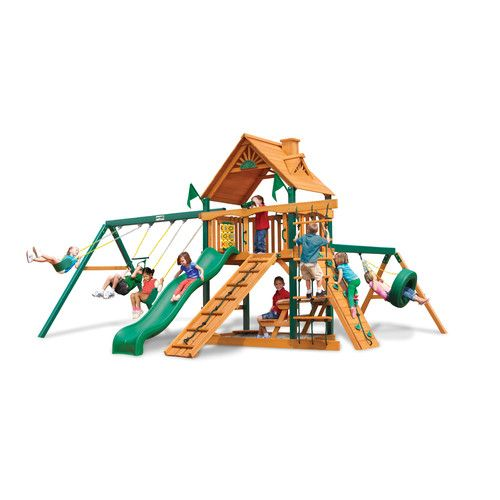 Frontier Swing Set with Wood Roof Canopy  sc 1 st  Pinterest & Frontier Swing Set with Wood Roof Canopy | Kids: Toys | Pinterest