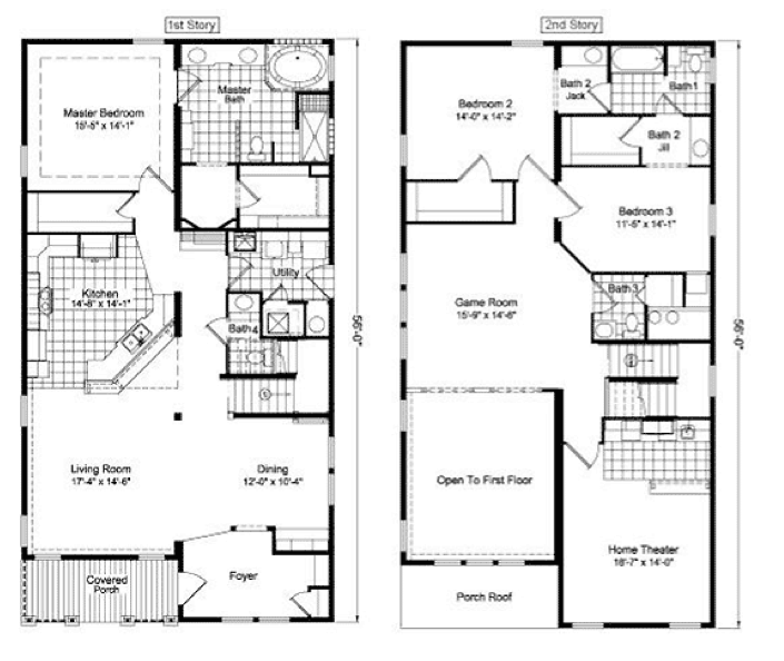 Floor Plans Two Story Homes