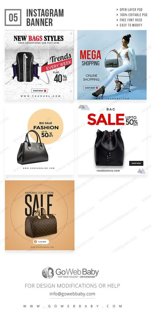 Designer Handbags Banners Social Media Couture Bags Purses Networks Posters Tips Banner
