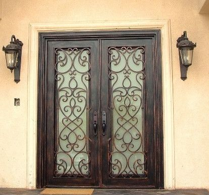 Wrought iron entry doors, gates & railing | Iron Doors NOW ...