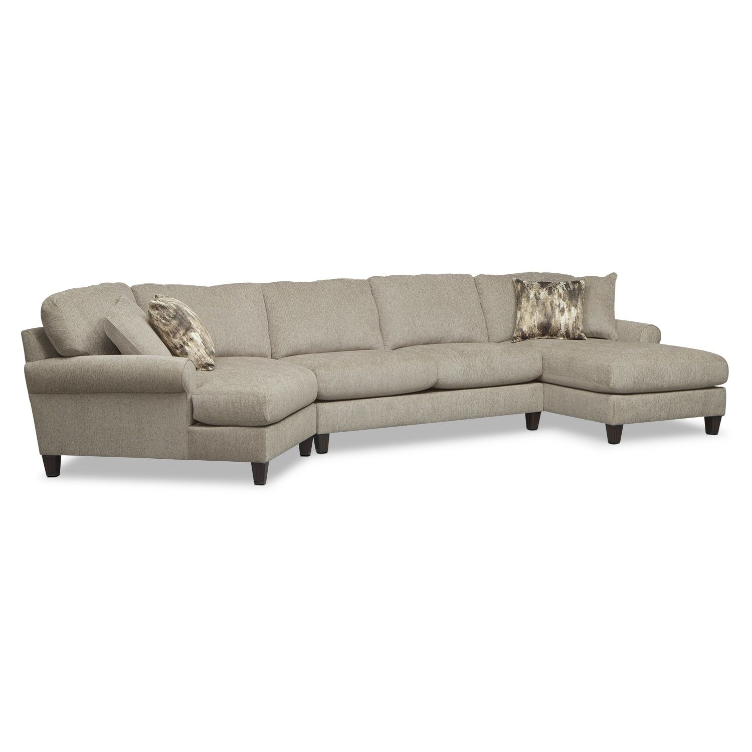 Karma 3 Piece Sectional With Left Facing Cuddler And Right Facing