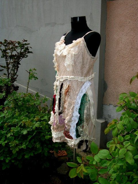 dressslip dress upcycled clothing indian dream by radusport, $85.00