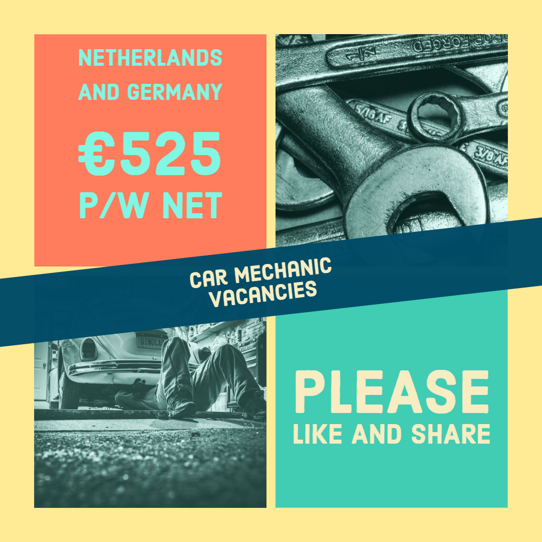 Car Mechanic Vacancies in the Netherlands and Germany For
