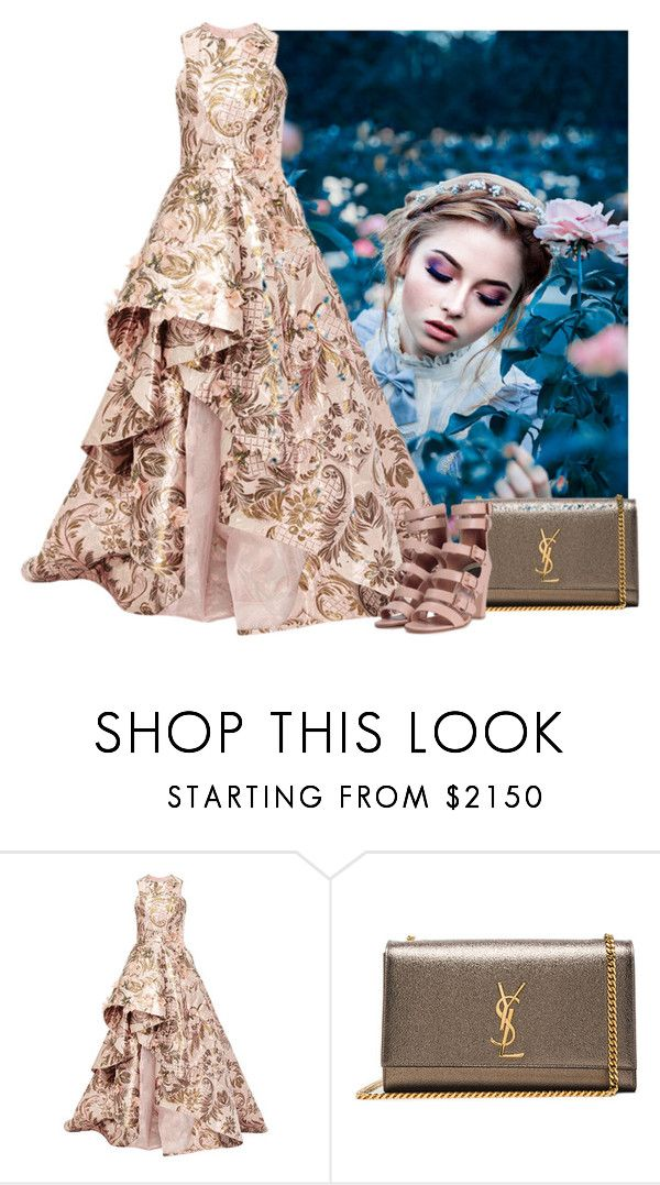 """""""Princess Gown"""" by cherieaustin ❤ liked on Polyvore featuring Monique Lhuillier, Yves Saint Laurent and Laurence Dacade"""