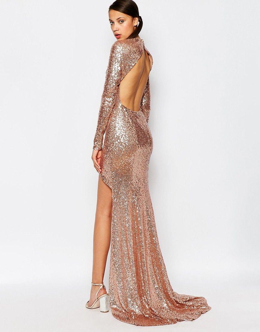 Maya Tall Sequin High Low Maxi Dress At Asos Com Gold Sequin Bridesmaid Dress Sequin Bridesmaid Dresses Rose Gold Prom Dress [ 1110 x 870 Pixel ]