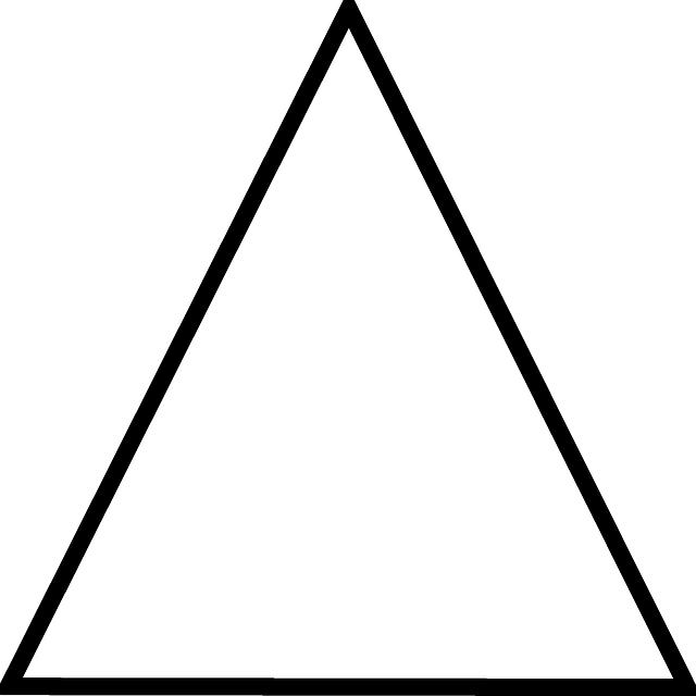 Triángulo Blanco Inventado Por El Hombre Y No Tiene Ningun Dibujos De Figuras Geometricas Actividades De Arte Para Preescolares Figuras Geometricas Para Niños