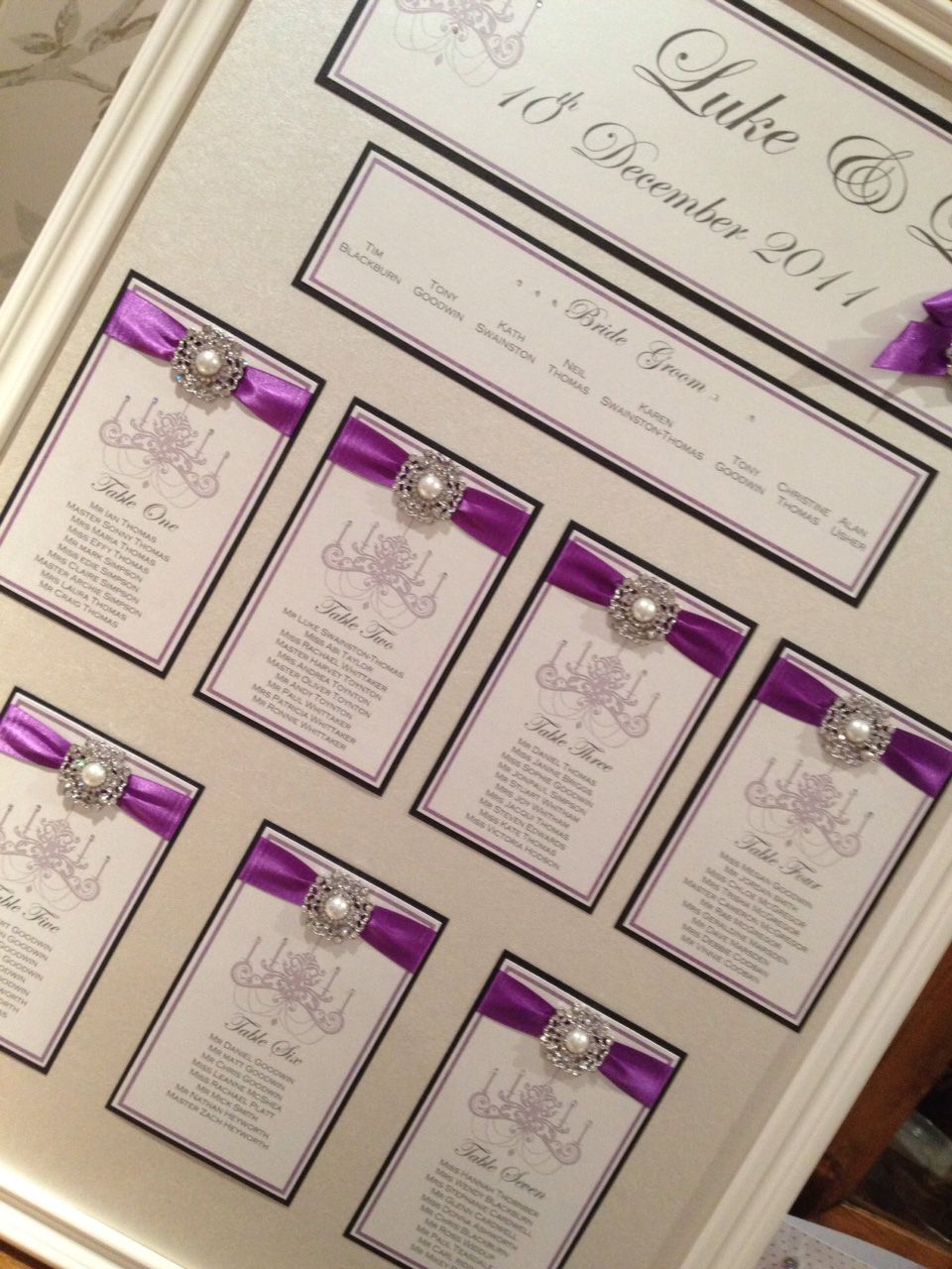 Elegant wedding or event table plan designed to fit your theme email ...