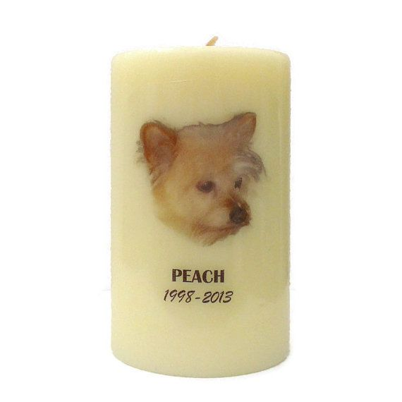 Pet Memorial Candle, Memorial Candle, Tribute Candle, Photo Memorial Candle, Remembrance Candle, Personalized Candle
