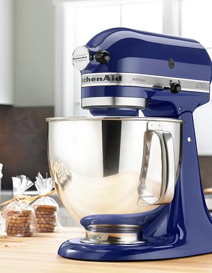 Blue KitchenAid Mixer on table | sweepstakes | Kitchen aid mixer