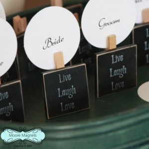 Live Laugh Love Wedding Favor Place Card Magnets