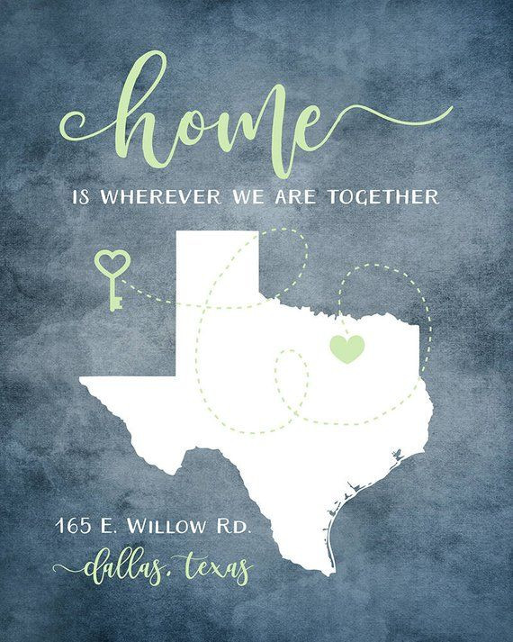 Personalized housewarming  new home any map house etsy also quote rh pinterest