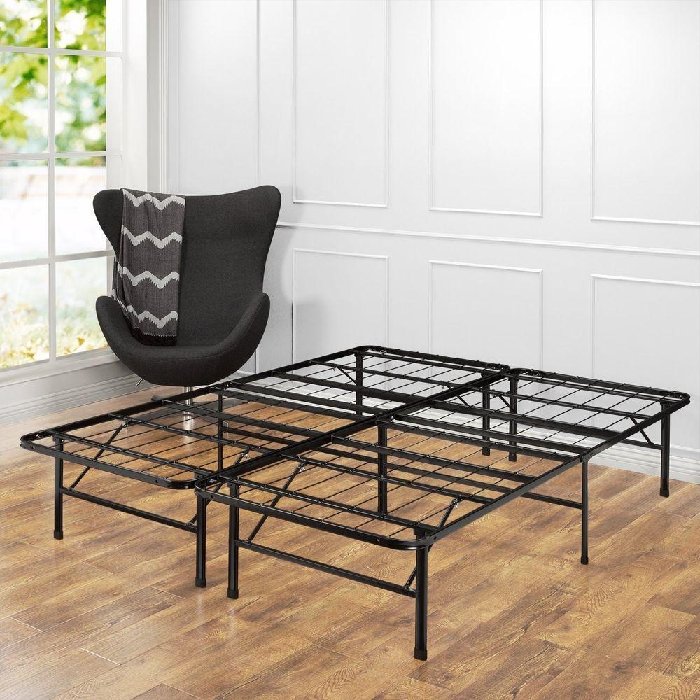 Bed Frame Full Size Sturdy Metal Mattress Platform Base No