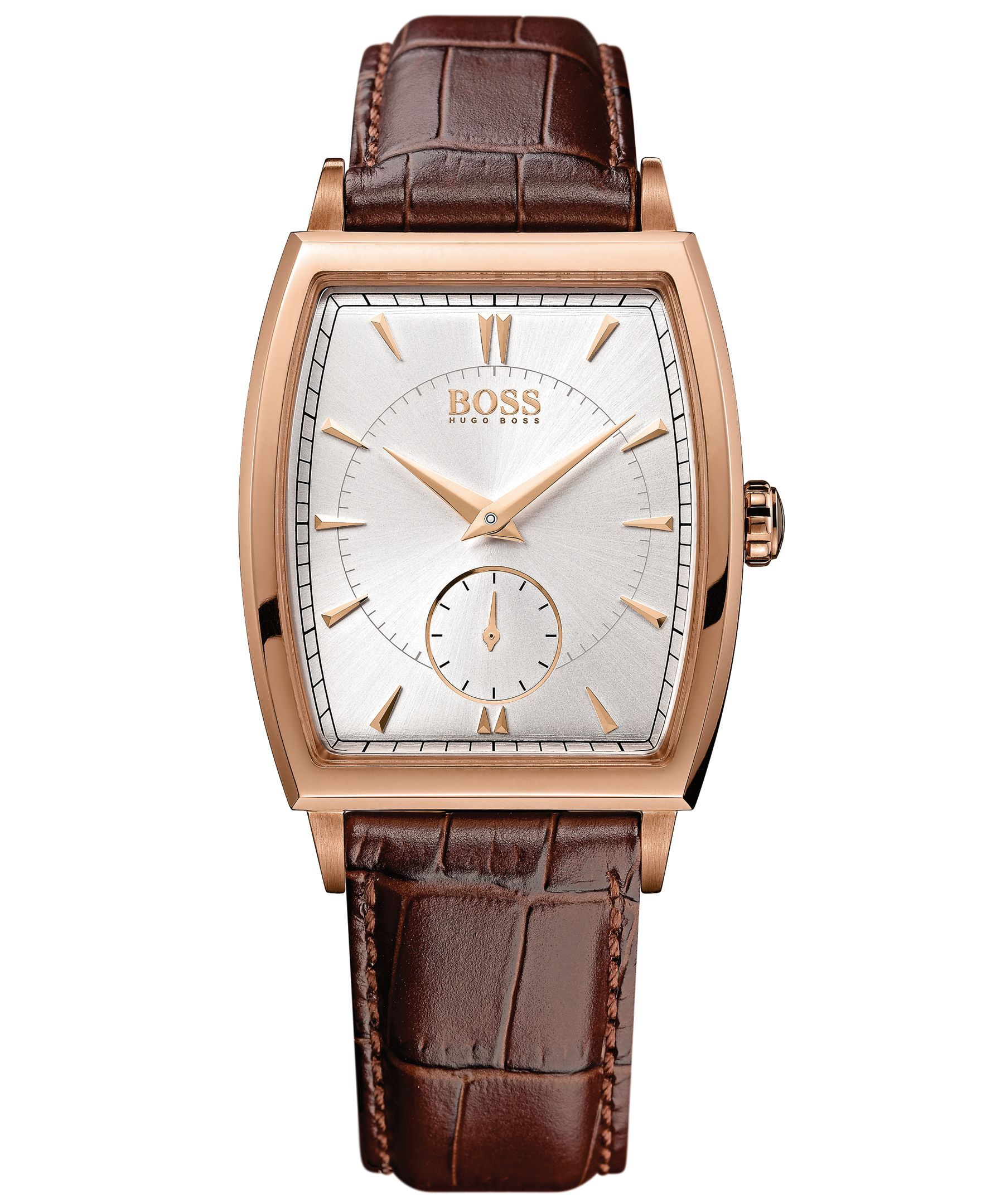 Hugo Boss Watch, Men's Brown Leather Strap 34mm 1512846