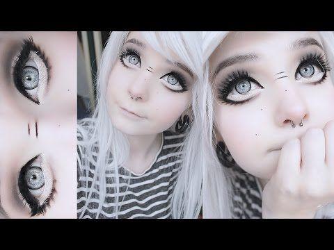 Big Anime Doll Eyes Tutorial Youtube Anime Makeup Doll Eye