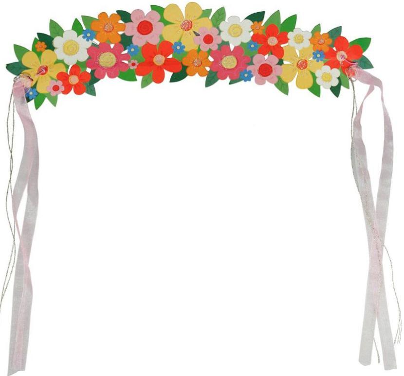 couronne fleurs tissus bianca and family dessin dguisement
