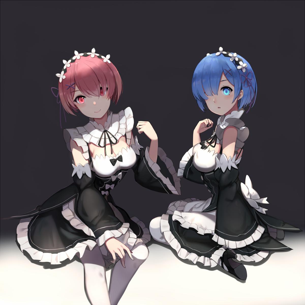 Rem u ram rezero kara hajimeru isekai seikatsu ram and rem
