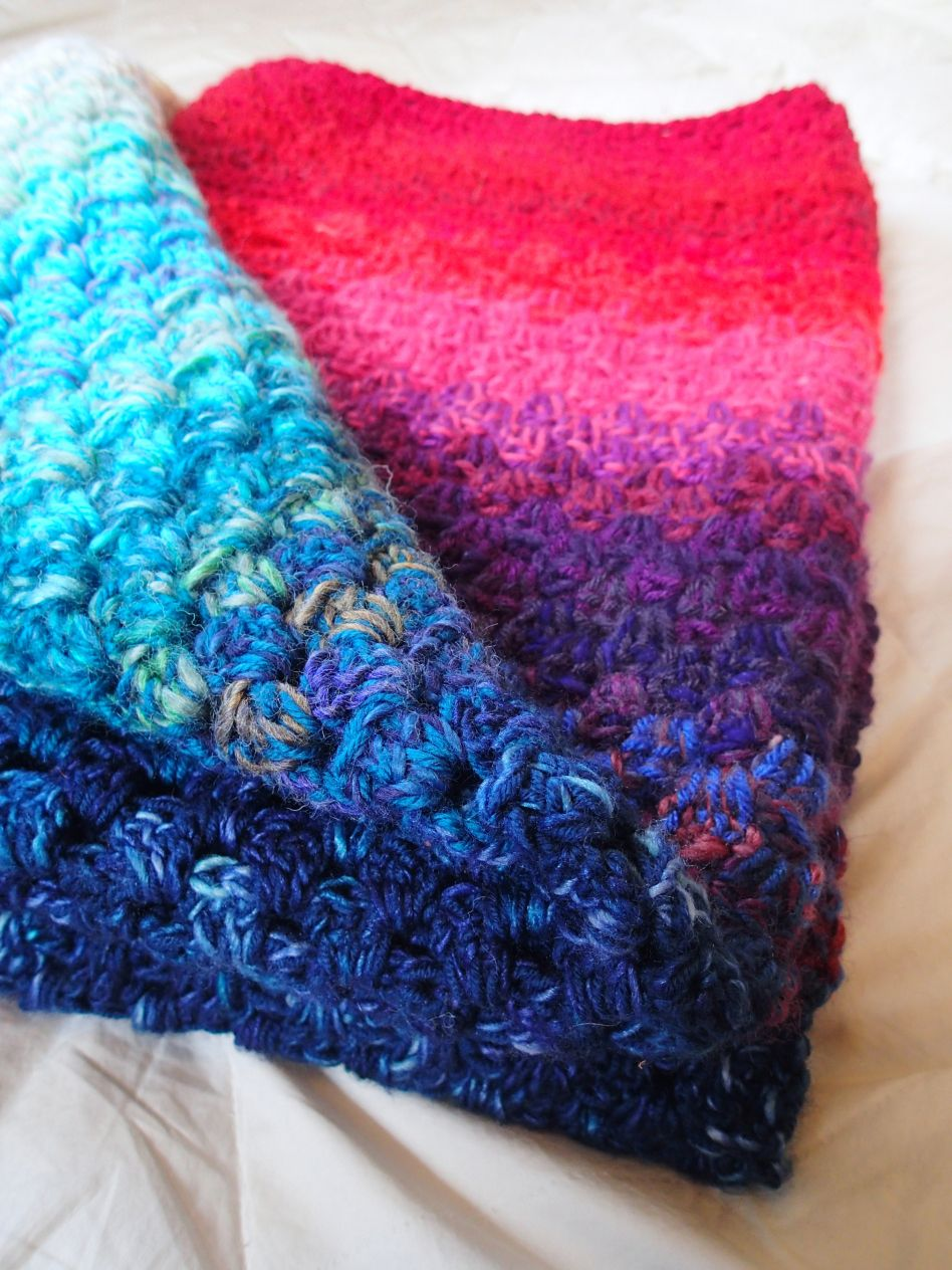 Use your yarn stash to create a northern light memory blanket | A ...