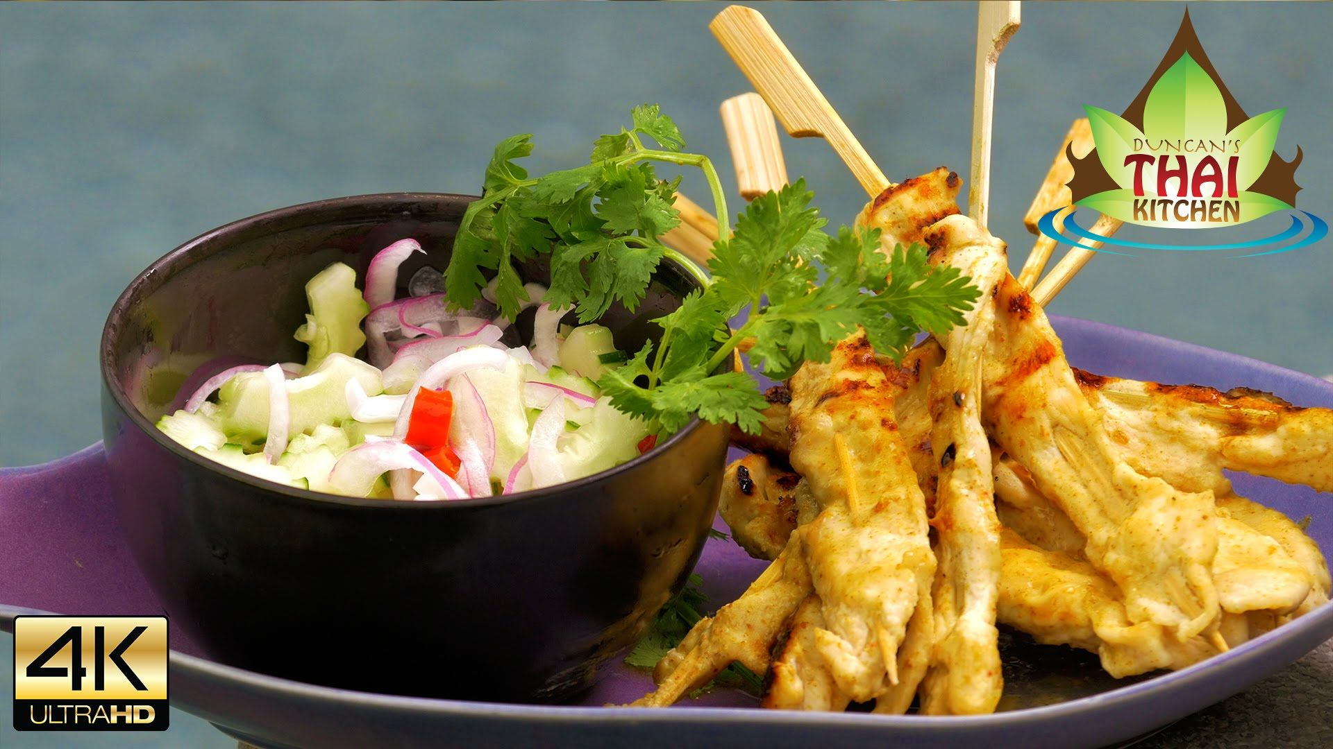 Thai food bbq chicken satay skewers recipe youtube thai thai food bbq chicken satay skewers recipe youtube forumfinder
