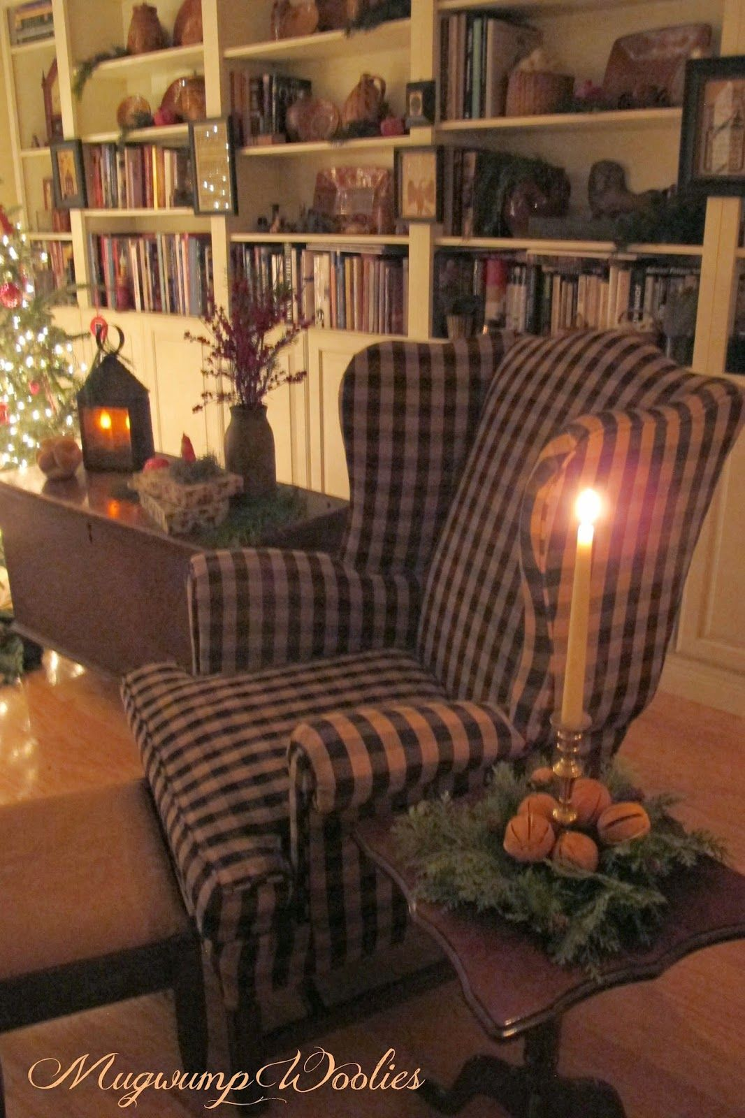 Primitive Country Living Room Decorating Ideas: Mugwump Woolies: Bits Of Christmas And Candlelight. I Love