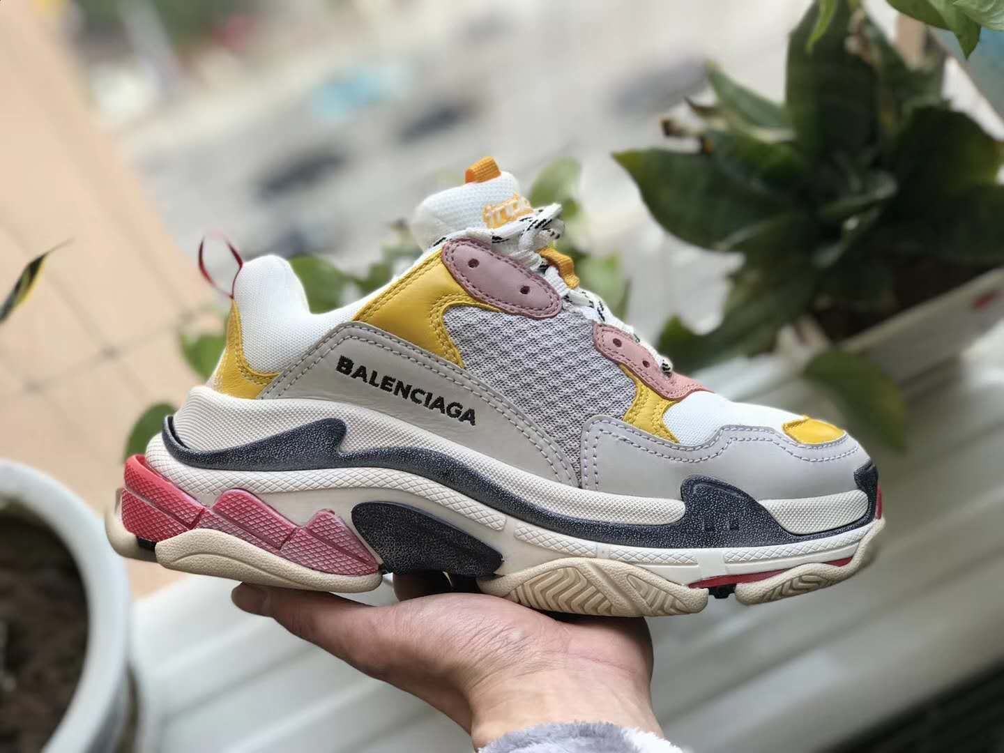 f5597e451c81 Balenciaga Triple S Cream Yellow Red Sneaker Spring  18