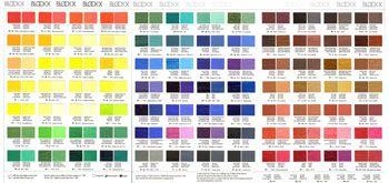 Blockx Oil Paint Printed Colour Chart Paint Color Chart Color Chart Prints