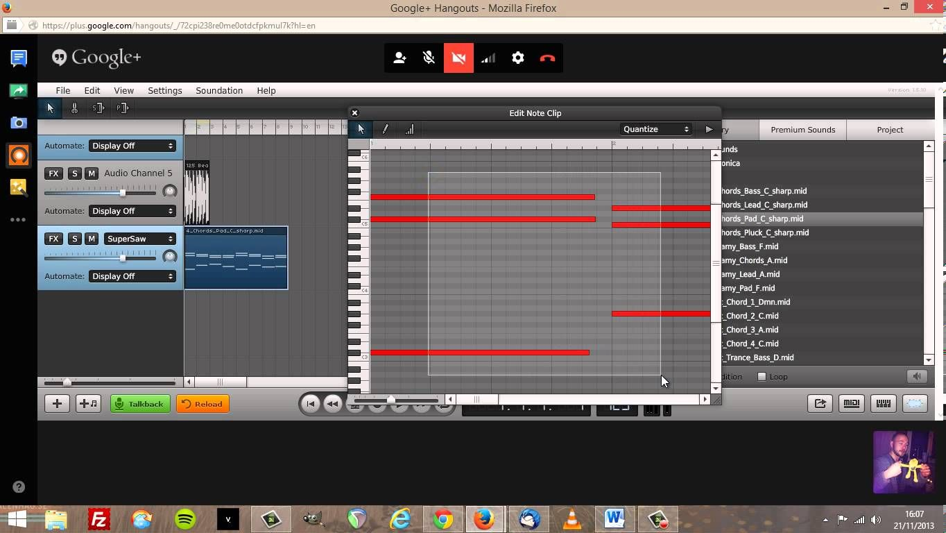 Quick intro to Soundation in Google+ Hangouts on Air