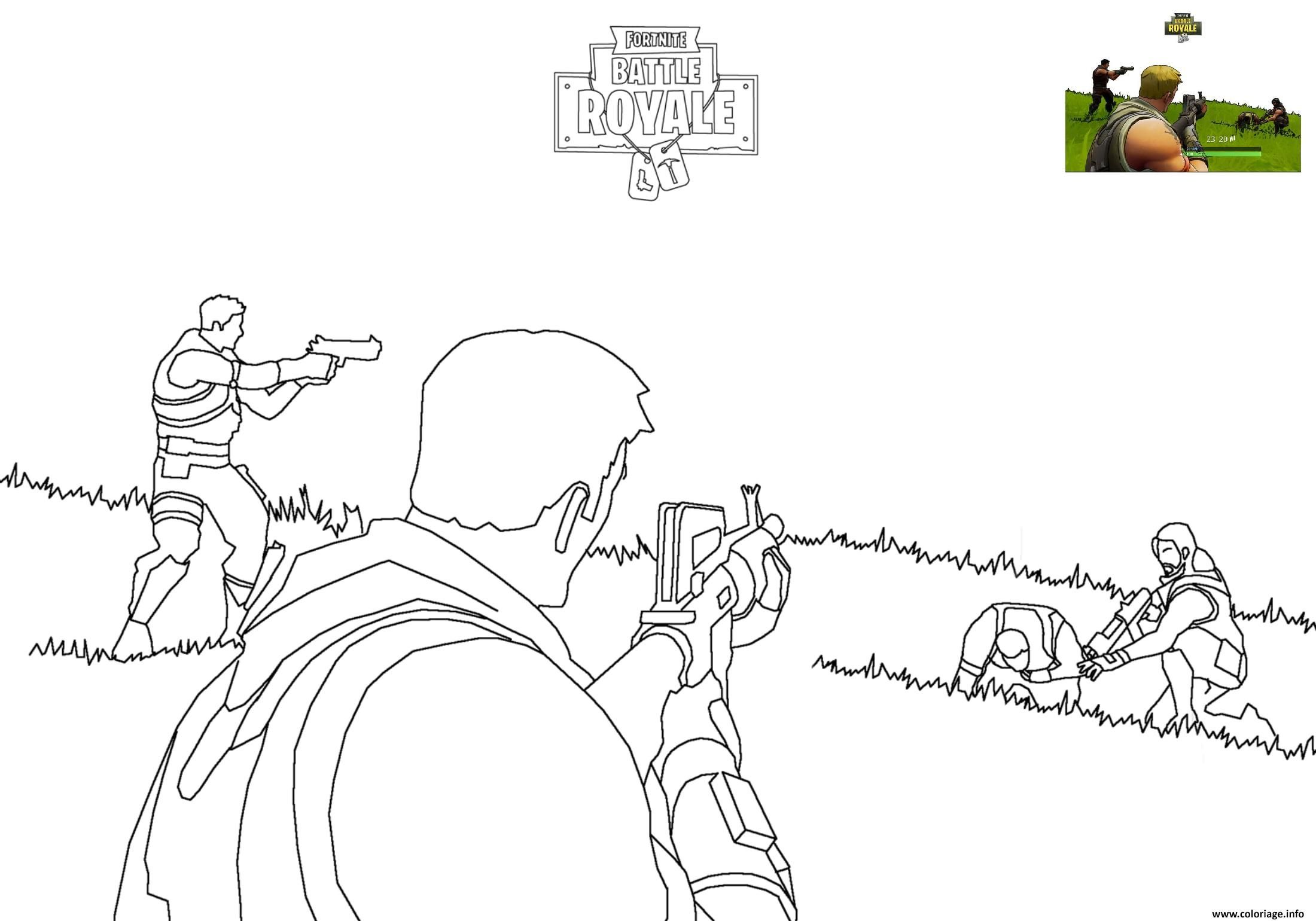 Coloriage Fortnite Battle Royale 2 A Imprimer Coloriage Livre