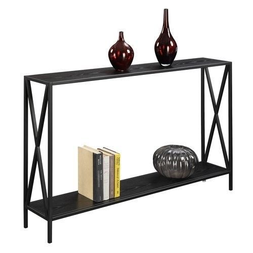 Modern Console Table Metal Entryway Furniture Narrow Hallway Accent Shelf Black #ModernConsoleTable
