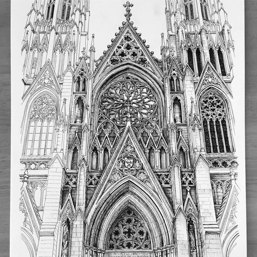 Internal And External Architecture Drawings Gothic Architecture Drawing Architecture Concept Drawings Cathedral Architecture