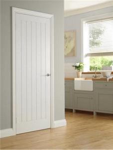 Molded Interior Doors On Textured 5 Vertical Panel White Moulded Internal  Door 6281 P Png