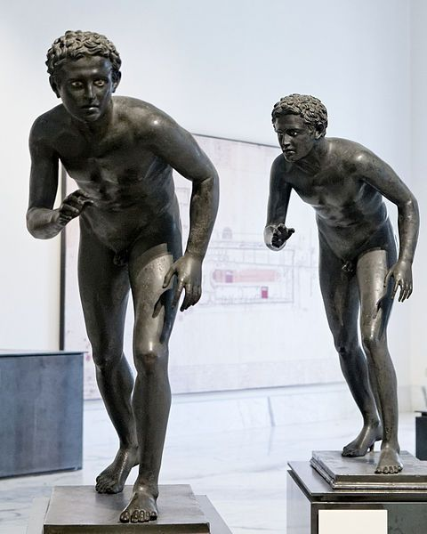 the runners. From the square peristyle of the Villa of the Papyri in Herculaneum