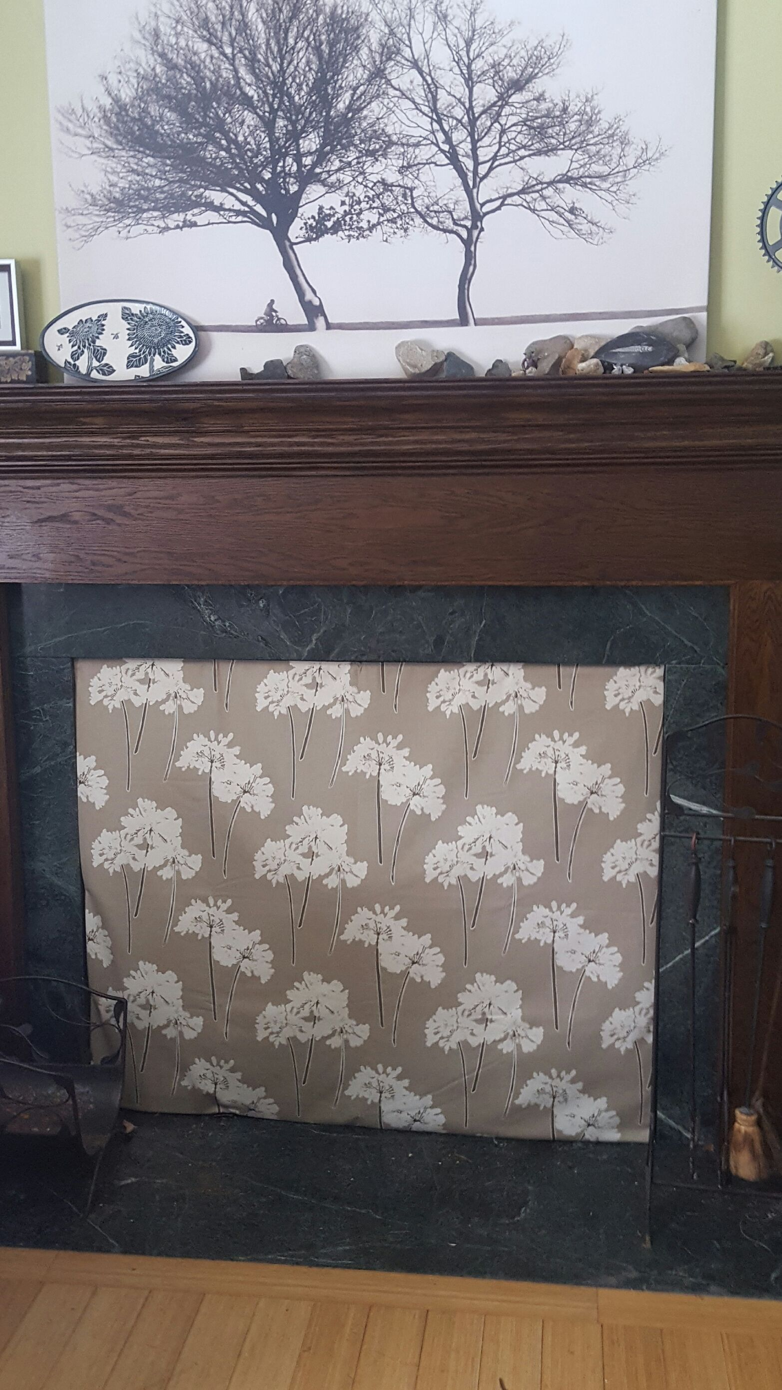 Fireplace Fashion Cover In Serenity Taupe Beautiful Practical