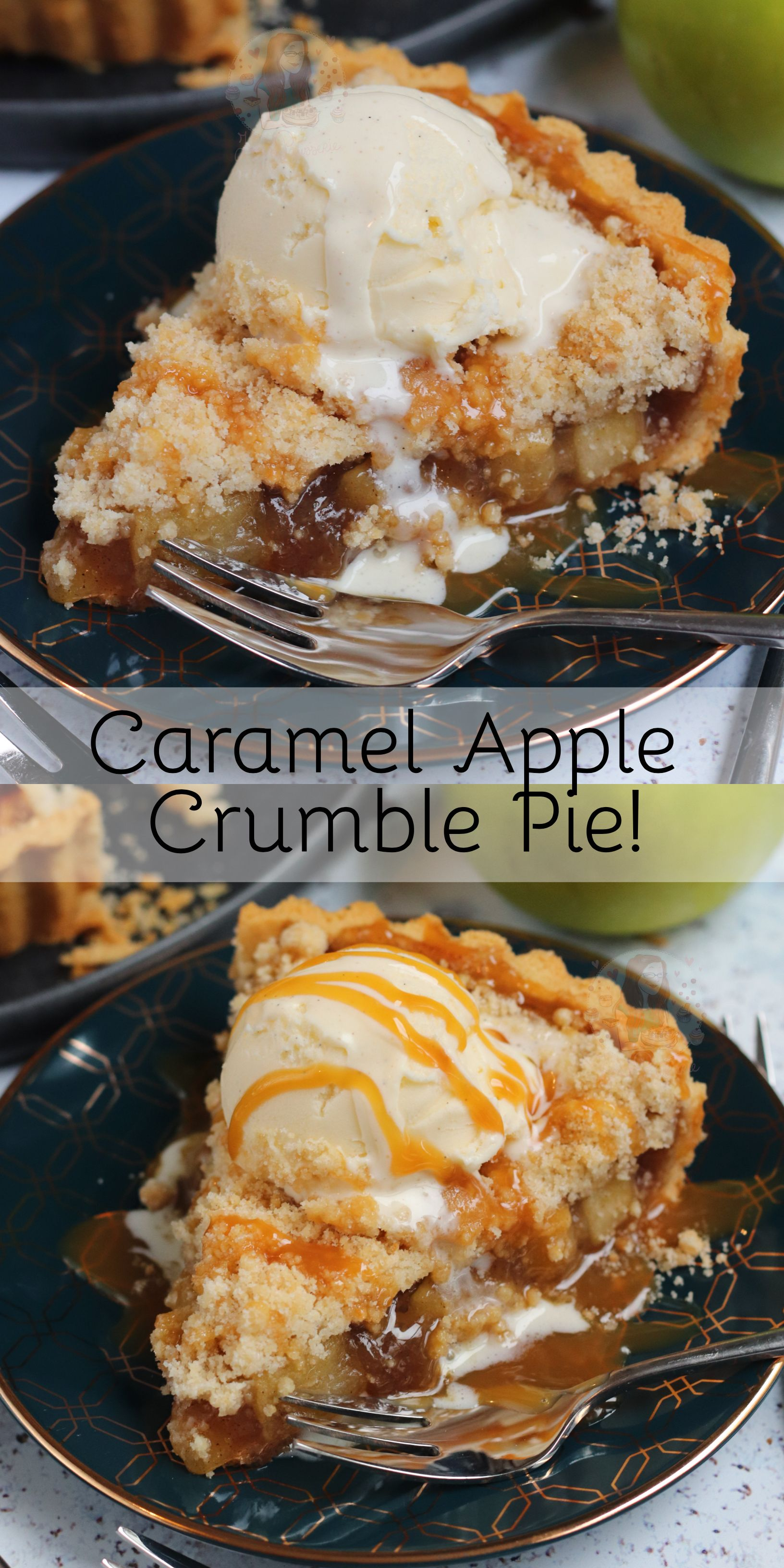 Caramel Apple Crumble Pie! #sweetpie