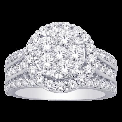 1.00 tcw Women's Diamond Fashion Ring set in 10k White