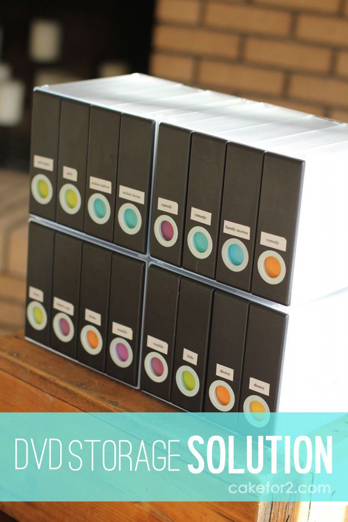 DVD Storage Solution. Stay Organized. Cakefor2.com #dvdstoragesolution  #organization #dvds