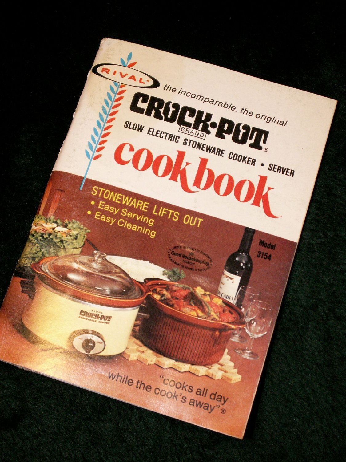 CookBook eBook - 470 Crock Pot Recipes - you're sure to ... |Vintage Recipe Book Crock Pot