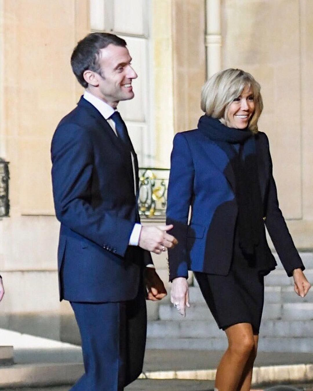 e soir, Emmanuel et Brigitte Macron ont accueilli les