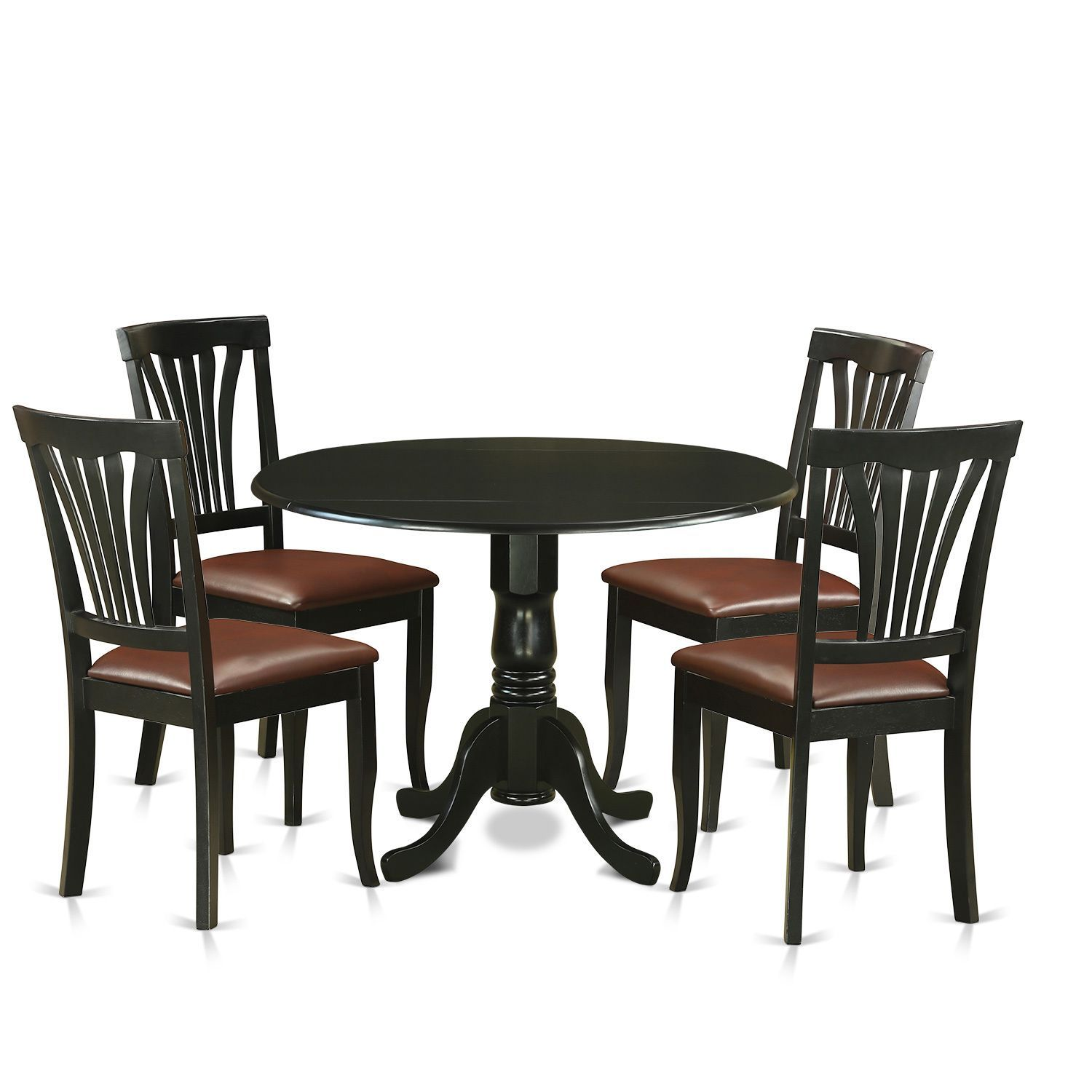 5-piece Dublin Kitchen Table Set with Dining Table and 4 Kitchen ...