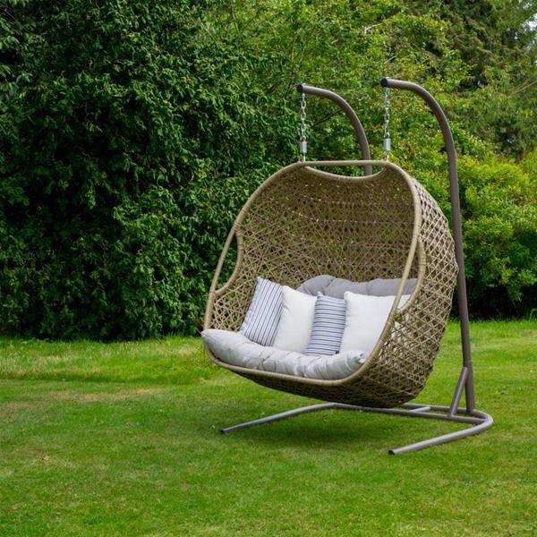 Bramblecrest Cotswold Double Cocoon Garden Swing Seat Internet