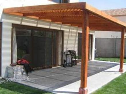 Cobertizos terrazas en madera santiago accesorios for Cobertizos para patios
