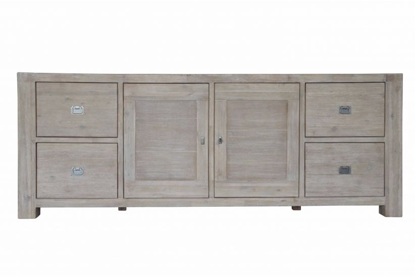 Detroit Sideboard Code : DET-64 Size : W35 x  L225 x H85 Main material : Acacia wood Wood finish: Wire brushing & Stain finishing