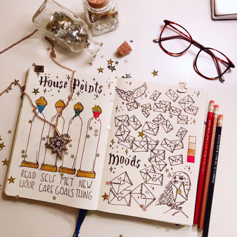 Pin Von Julie Auf Bullet Journal Bullet Journal Deckblatt Bullet Journal Ideen Harry Potter Journal